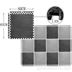RUIRUIY Alfombra Puzle Puzzles Suelo Alfombrilla De Estar for El Hogar EVA Fácil De Almacenar 6 Colores 4 Tamaños (Color : Green Size : 60x60x1.2cm-4pcs)
