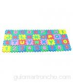 TOYANDONA Juego de 36 alfombrillas de encastre con letras y números alfombrilla de espuma lavable para suelo alfombra cuadrada juguetes educativos para niños 6 x 6 cm