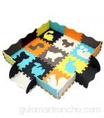 XMTMTD Alfombra Puzle Niños Colchoneta Suave niños Puzzle Play Mat Colorido Suave no tóxico Jigsaw Espuma baldosas de Piso y Juguetes Estera Juego Puzzle para Bebé EVA AMP053B3010