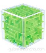 WXXW 3D Cube Puzzle Laberinto Niños Juego de la Mano Juegos de Pelota Juguete Inteligencia Educativa Descompresión temprana Desafío Cerebral Cerebro Juguete Green