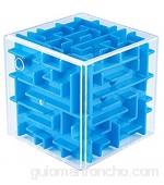 WXXW 3D Cube Puzzle Laberinto Niños Juego de la Mano Juegos de Pelota Juguete Inteligencia Educativa Descompresión temprana Desafío Cerebral Cerebro Juguete Blue