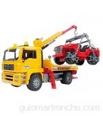 Bruder-02750 Camión Asistencia con Todoterreno Multicolor (02750)