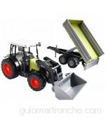 Bruder Bruder-2112 2112-Tractor Claas Nectis 267F con Pala Frontal y Remolque Multicolor (2112)