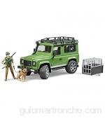 Bruder Land Rover Defender Station Wagon 02587 – Coche de Juguete con silvicultura y Perro