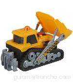 Dickie Toys 203302026 Bulldozer Oruga de planificación vehículo de Obras Pala Manual móvil Coche de Juguete Caja de Arena Juguetes luz y Sonido Incluye Pilas 16 cm Color Amarillo