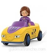 SIKU Toddys by 0104 Zoe Zoomy Vehículo de 3 Piezas Interconectable Incluye Figura móvil Motor de fricción Amarillo/Lila 18+ Meses Multicolor (Sieper GmbH