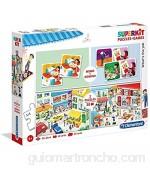 Clementoni- SuperKit 2 Puzzles 30 Memo+Domino Profesiones Color Multicolor. (20239.3)