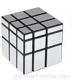 Cooja Cubo Mirror Cubo Espejo Magic Cube 3x3 Cubo Especial Silver Mirror Pegatinas Cube Cubo de Velocidad