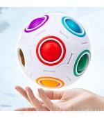 Lengus Magic Rainbow Ball Speed Cube Rompecabezas de regalo educativo AZ Inteligencia Juguetes 3D Puzzle Fidget Bolas para niños