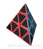 Wings of wind - Eco-Friendly plásticos Speed Pyraminx Cubo mágico Cubo de Puzzle Triangular (Fibra de Carbono)