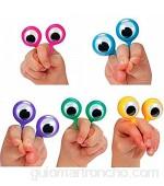 Enemy Atractivo de meneo interactivo Ojo dedo títeres Anillos de plástico divertidos gadgets divertidos interesantes juguetes para niños niño cumpleaños regalo Es un gran regalo para Navidad Acción d