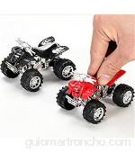 Enemy Juguetes vehículos camiones de automóviles modelo de venta de una sola venta de carreras juguetes de coche detrás del vehículo todoterreno modelo de automóvil aleatorio color Es un gran regalo p