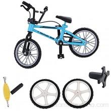 Gazechimp Mini Kit Modelo de Bicicleta Juguete Finger de Metal Decoración de Oficina Regalo de Niños - Azul