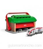 Brio 33474 Cochera para Trenes con Asa BRIO Accesorios Edad Recomendada 3+