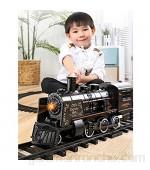 ISAKEN Tren de Juguete Eléctrico con un Sonido Realista Luz Y Humo Juego De Tren Eléctrico Clásico Ferroviario Fácil Montaje Regalos Navidad para Niños Niñas
