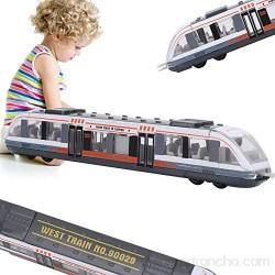 Juguete de tren simulación de aleación deslizante de metal fundido a presión para vehículos educación cognitivo juguete cumpleaños para niños de 3 4 5 6 7 años (blanco)