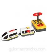 LICHENGTAI Juguete Educativo de Tren de Control Remoto Eléctrico para Niños Tren de Locomotora de Acción con Batería Coche de Juguetes para Niños Pequeños