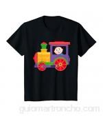Niños Pequeña locomotora con bebé | colorido tren de juguete Camiseta
