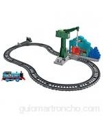 Thomas and Friends Derribo en el Muelle Pista de Tren de Juguete de la Locomotora Thomas Juguetes Niños 3 Años (Mattel DVF73)