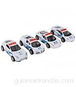 Modelo de coche de juguete modelo de coche de aleación de fricción simulación de juguete todoterreno modelo de Jeep conjunto de vehículos policiales regalo para niños(Blanco)